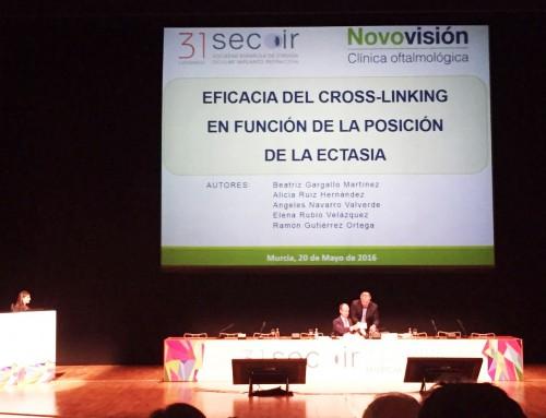 El equipo de Novovisión Murcia es premiado en la XXXI edición de SECOIR por su trabajo sobre córnea y refractiva