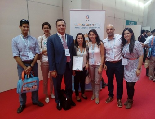 El equipo de Novovisión premiado en el XXXIV Congreso ESCRS